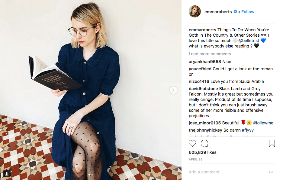 Emma Roberts reads Things to Do When You're Goth in the Country by Chavisa Woods