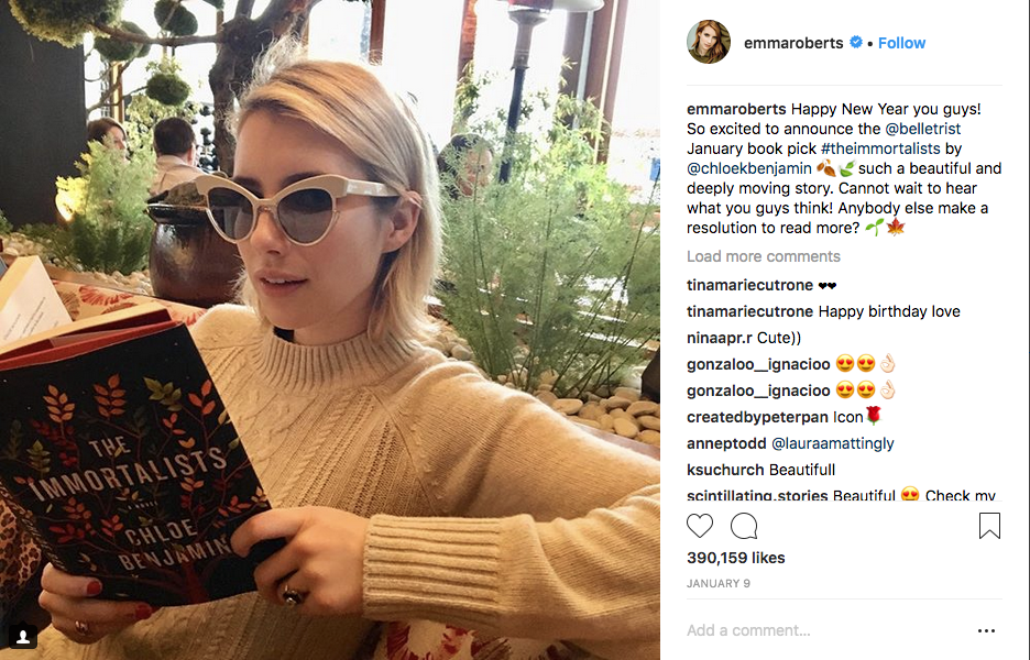 Emma Roberts reads The Immortalists by Chloe Benjamin