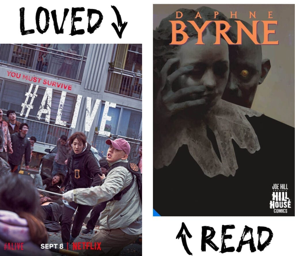 Scary Book and Movie Pairings - Daphne Byrne