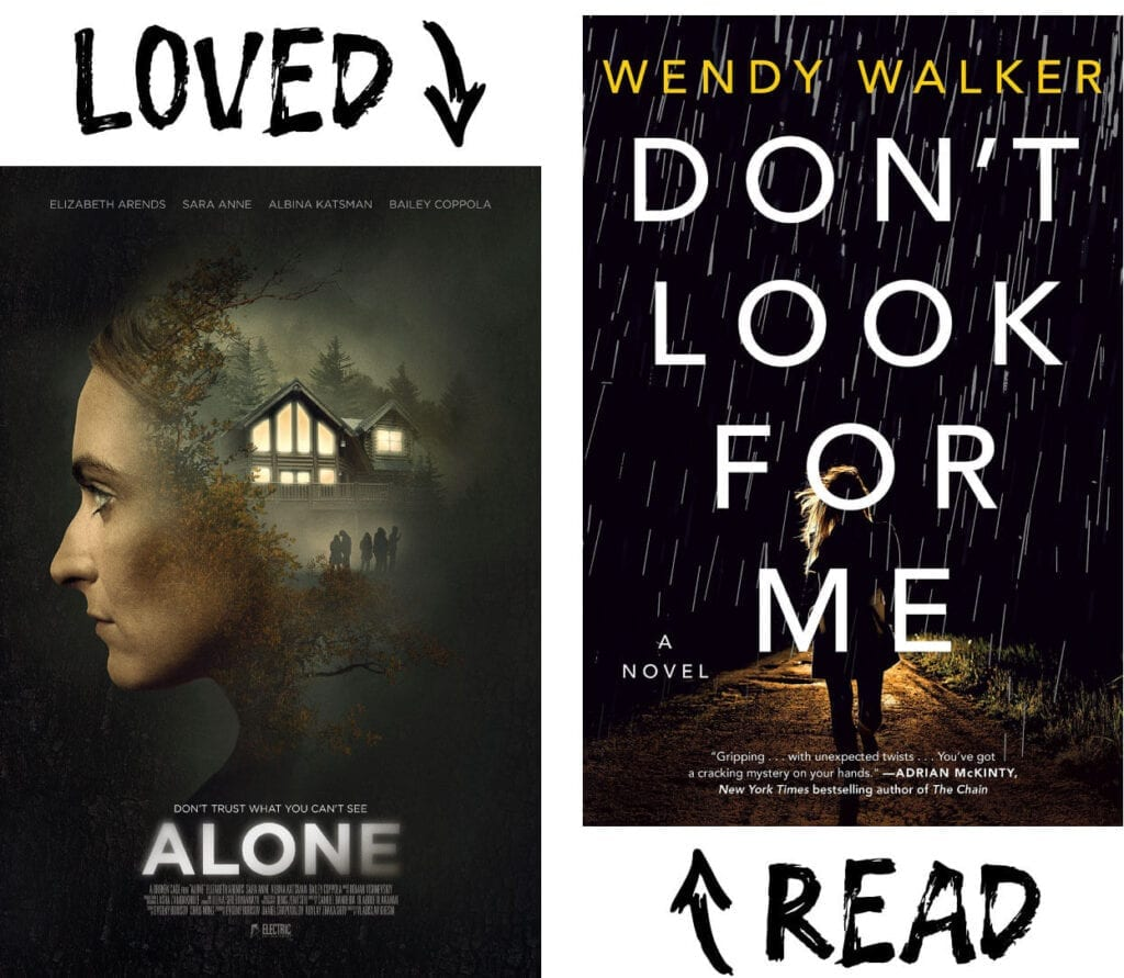 Scary Book and Movie Pairings - Don't Look for Me