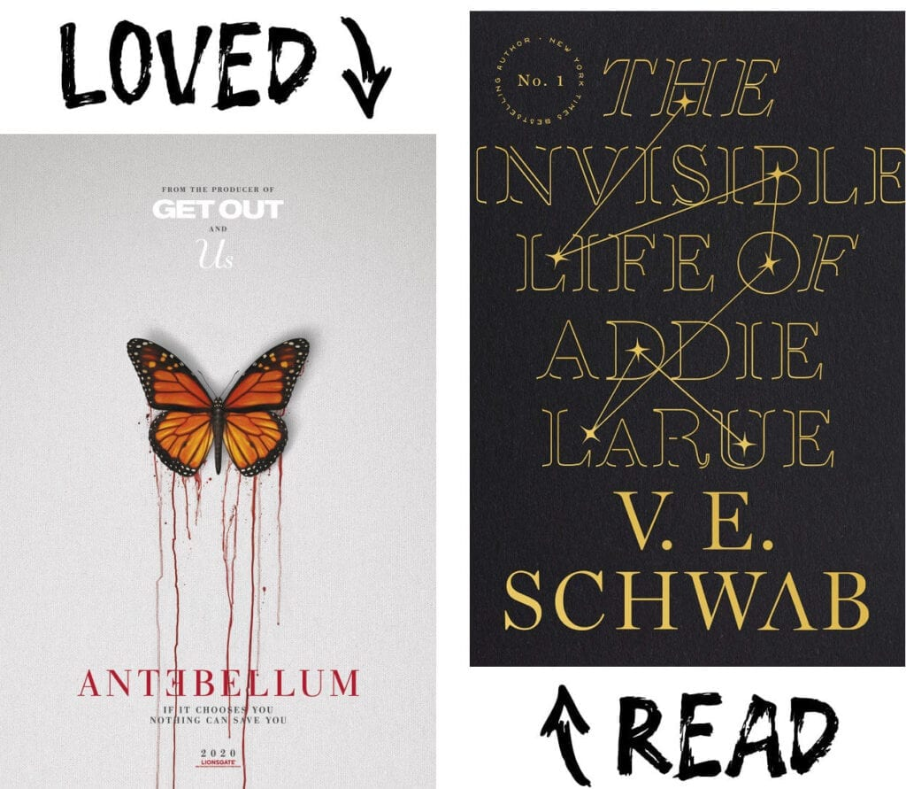 Scary Book and Movie Pairings - The Invisible Life of Addie LaRue