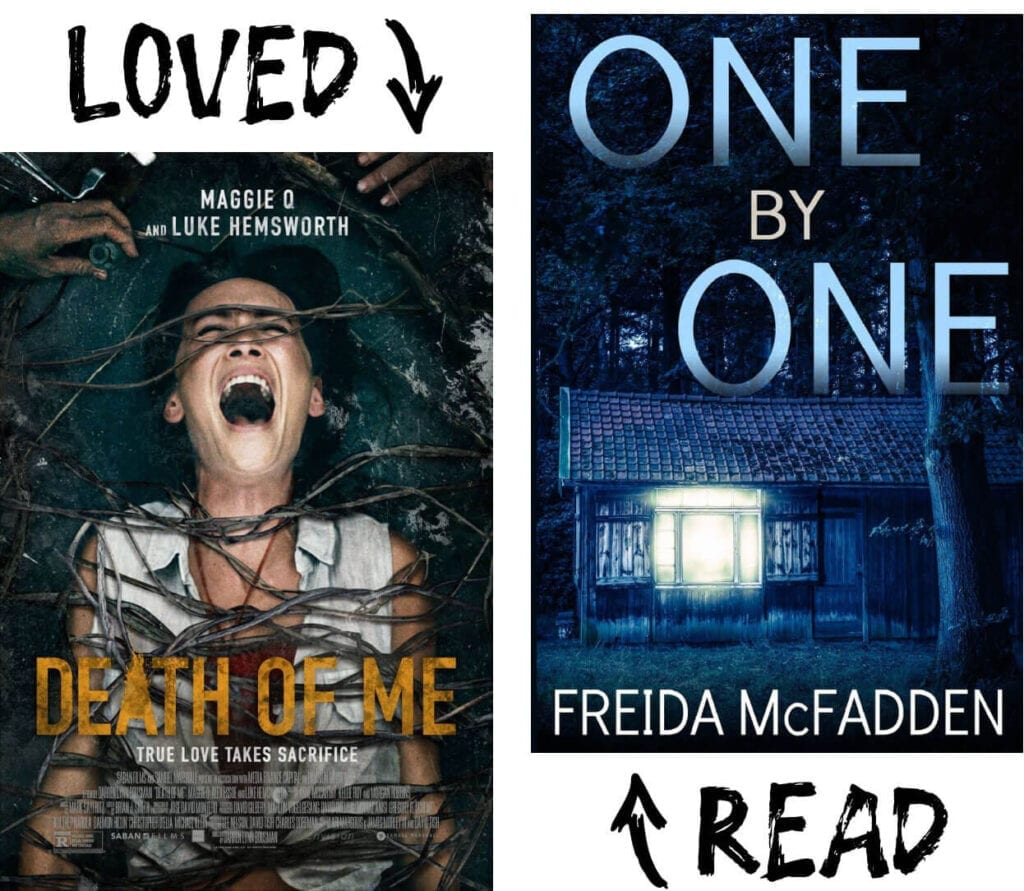 Scary Book and Movie Pairings - One by One