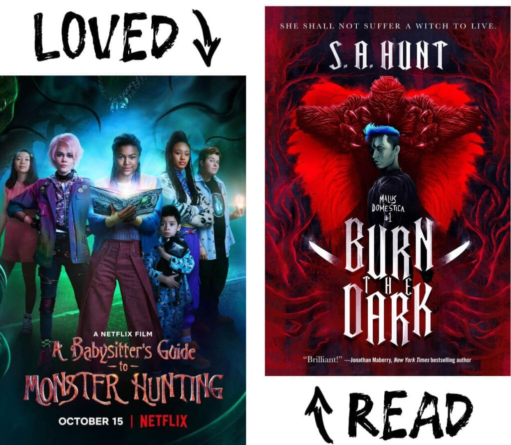 Scary Book and Movie Pairings - Burn the Dark